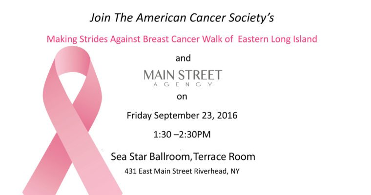 """Main Street Agency supports """"Turn Riverhead PINK"""""""